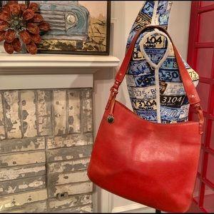 🦆RARE FIND DOONEY & BOURKE Red Leather Slim Purse